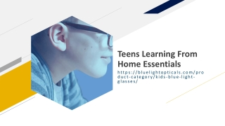 Teens Learning From Home Essentials