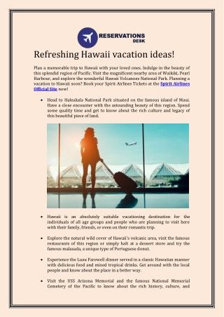 Refreshing Hawaii vacation ideas!