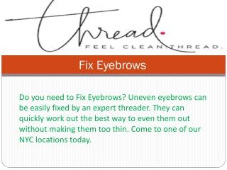 Fix Eyebrows