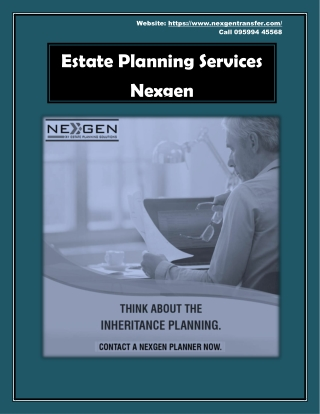 Estate Planning Services - Nexgen
