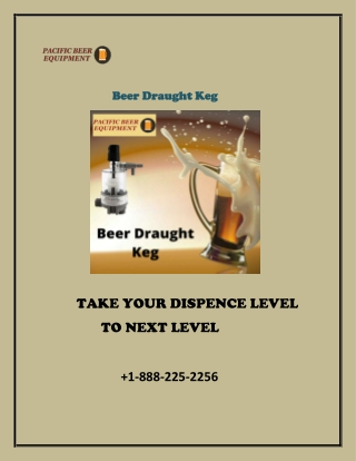 Draught beer system is easy and useful for beer serve.