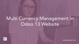 Multi Currency Management in Odoo 13 Website