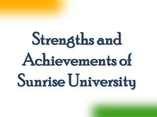 Strengths and Achievements of Sunrise University