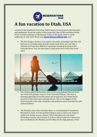 A fun vacation to Utah, USA