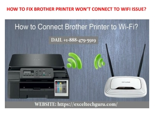 Why Brother printer won't connect to wifi ?
