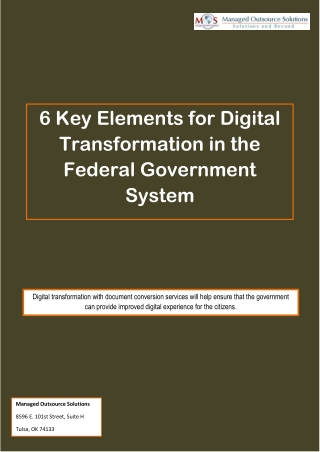 6 Key Elements for Digital Transformation in the Federal Government System