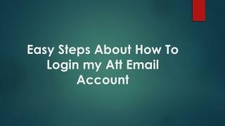 login my att email account