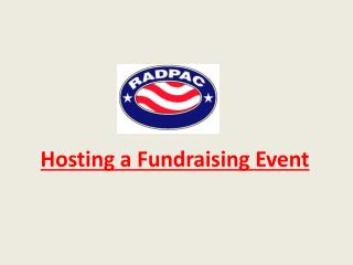 Hosting a Fundraising Event