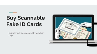 Buy Scannable Fake ID Cards