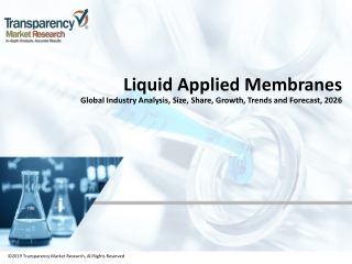 Liquid Applied Membranes Market Research Report | Sales, Size, Share and Forecast 2026