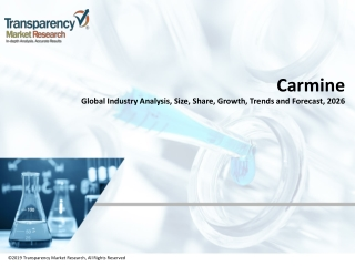 Carmine Market Research Report 2018-2026
