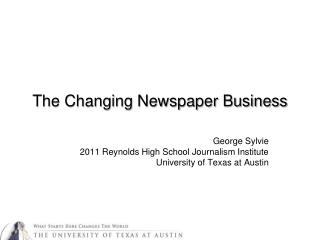 The Changing Newspaper Business