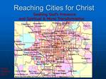 Reaching Cities for Christ