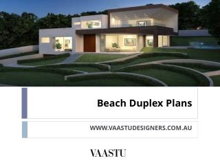 Beach Duplex Plans