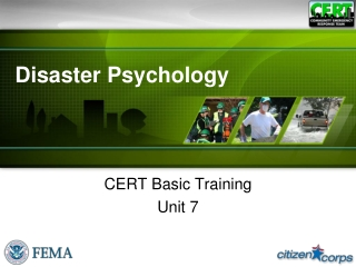 Disaster Psychology