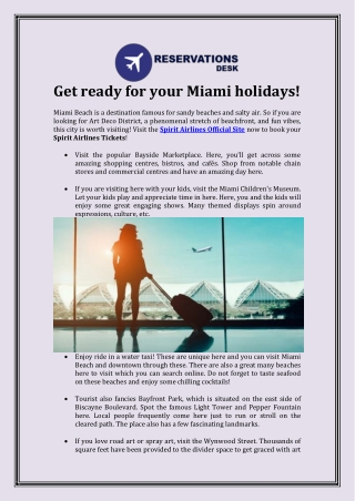 Get ready for your Miami holidays!