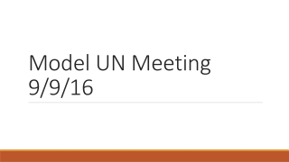 Welcome to Model UN