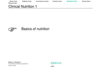 Clinical Nutrition 1