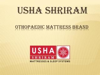 Usha Shriram Othopaedic Mattress Brand