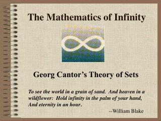 The Mathematics of Infinity