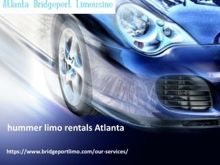 hummer limo rentals Atlanta- bridgeportlimo
