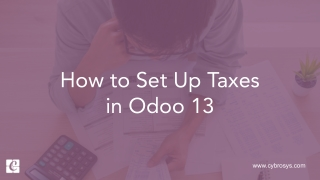 How to Set Up Taxes in Odoo 13