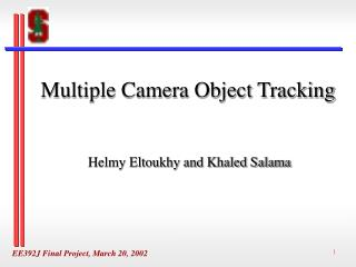 Multiple Camera Object Tracking