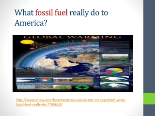 Crown Capital Eco Management : What fossil fuel do to Americ