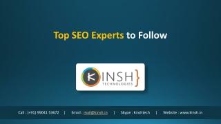Top SEO Experts to Follow
