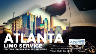 Atlanta Limo Service for Your Professional Driving Needs