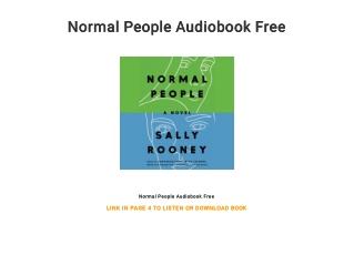 Normal People Audiobook Free