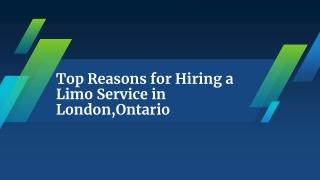 Hiring a Limo Service in London,Ontario
