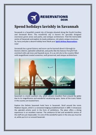 Spend holidays lavishly in Savannah