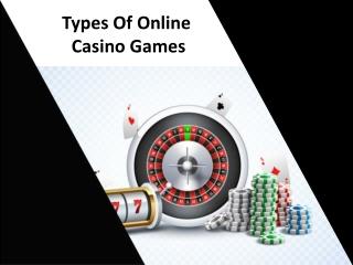 Types Of Online Casino Games PDF
