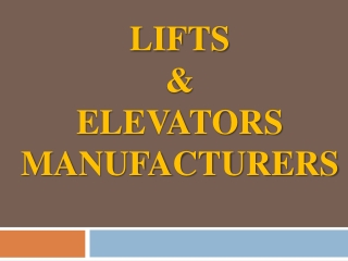 Hydraulic Lift, Passenger Lift, Commercial Lift, Hospital Lift, Goods Lift Manufacturers in Chennai