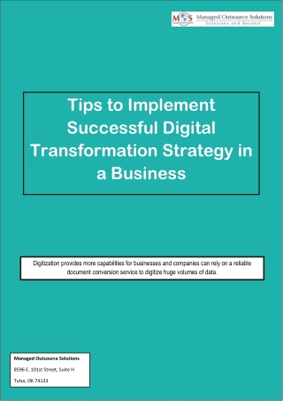 Tips to Implement Successful Digital Transformation Strategy in a Business