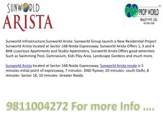 Sunworld Arista,Sunworld Arista Resale,9910003520