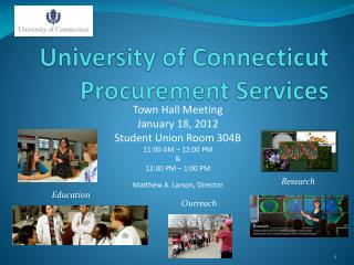 University of Connecticut Procurement Services