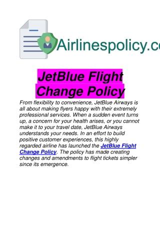 JetBlue Flight Change Policy