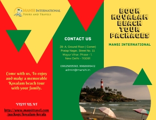 Book Kovalam Beach Tour Packages