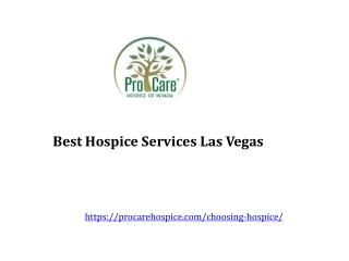 Best Hospice Services Las Vegas