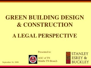 GREEN BUILDING DESIGN & CONSTRUCTION