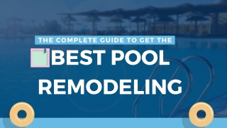 Swimming Pool Renovation for Commercial and Residential