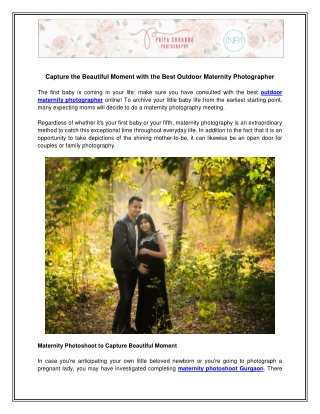 Outdoor Maternity Photographer