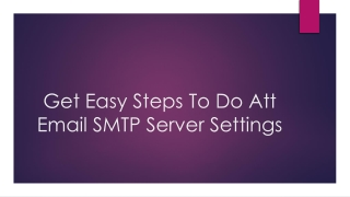 Att email smtp server settings