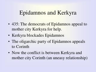 Epidamnos and Kerkyra