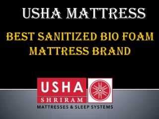 Usha Shriram Best Sanitized Bio Foam Mattress Brand
