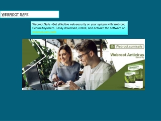 Webroot.com/safe - Download And Install Webroot SecureAnywhere AntiVirus
