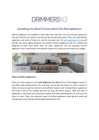 Everything You Need To Know About The Wolf Appliances
