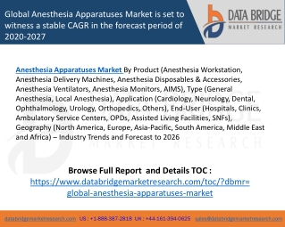 Global Anesthesia Apparatuses Market – Industry Trends and Forecast to 2026